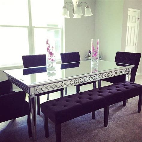 mirrored dining room table pin by gillen on for the home