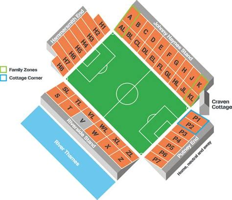 craven cottage seating plan visiting the cottage fulham football club