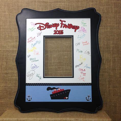 Disney Cruise Photo Mat - disney cruise blue autograph book idea photo mat signature