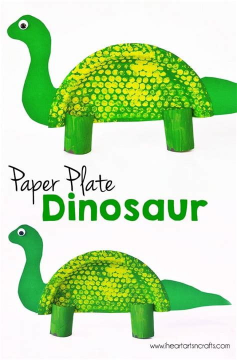 Paper Dinosaur Craft - paper plate dinosaur craft