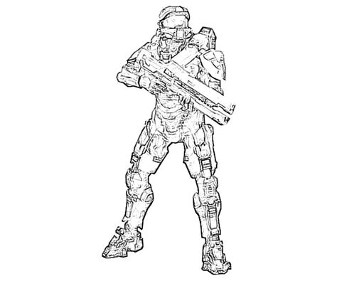 Halo 4 Coloring Pages by Halo 4 Coloring Pages To Print Free Coloring Pages