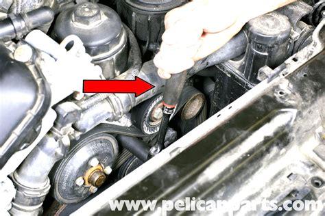 small engine service manuals 2001 bmw 525 spare parts catalogs bmw e39 5 series drive belt replacement 1997 2003 525i 528i 530i 540i pelican parts diy