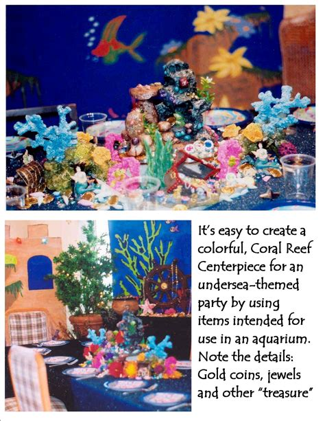 coral reef centerpieces mermaid coral reef centerpiece ask the