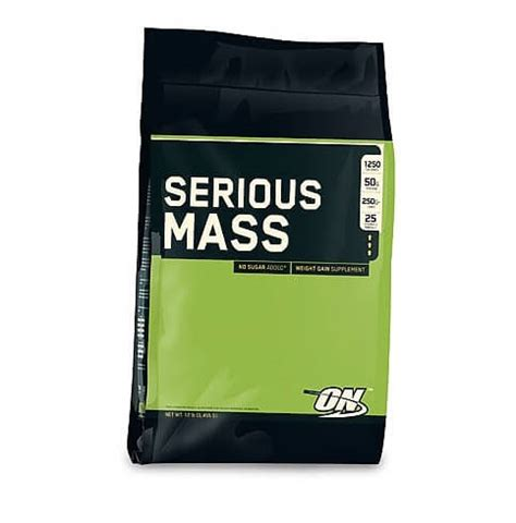 Suplemen Gain Mass Optimum Nutrition Serious Mass On Serious Mass Gainer