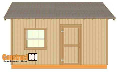 shed plans gable design construct