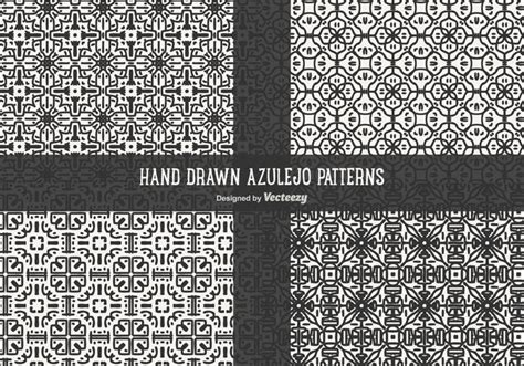 azulejo pattern azulejo patterns vector pack download free vector art