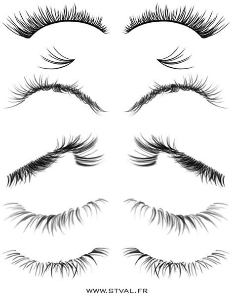 Drawing Eyelashes by 12 Eye Eyelash Brushes For Photoshop Gimp