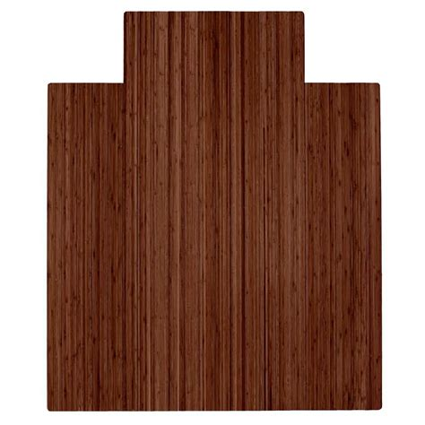 Bamboo Chair Mats by Anji Mountain Walnut 44 In X 52 In Bamboo Roll Up Chair Mat With Lip Amb24053 The Home Depot