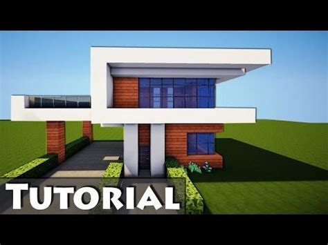 minecraft tutorial modern interior house design how to minecraft how to build a small modern house tutorial