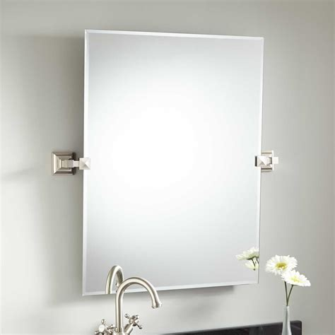rectangular tilt bathroom mirror 3 finishes bathroom frameless bathroom mirrors signature hardware