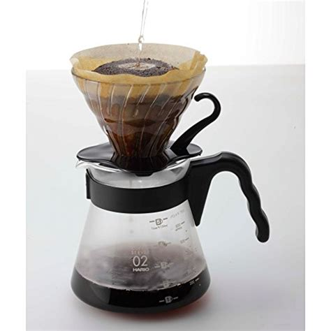 Murah Hario Vdg 01 V60 Glass Coffee Dripper Pour hario vdg 02b v60 glass coffee dripper black