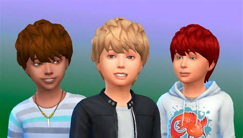 sims 4 hair mods children the sims 4 my stuff messy hair for boys new mesh