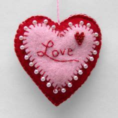 Handmade Hearts Crafts - a handmade created with two colors of felt and