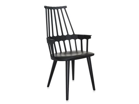 buy the kartell comback chair with black wooden legs at
