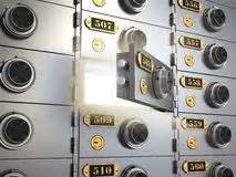 cassette di sicurezza bancarie cassette di sicurezza in una volta di fotografia