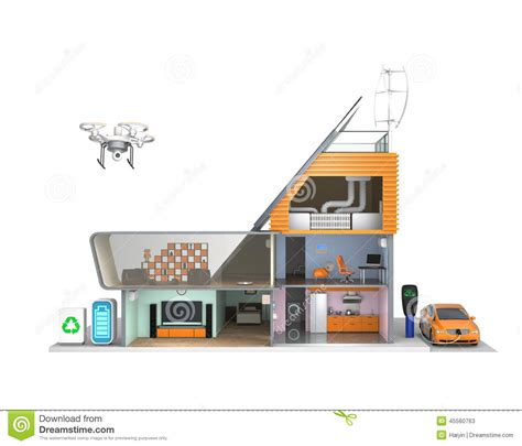 solar powered house ls solar energy house cartoon vector cartoondealer com