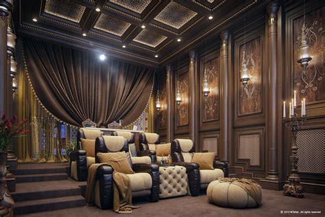 luxury home theater  behance