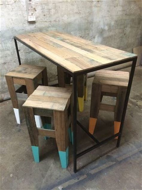 Timber Bar Table Timber Bar Stool Woodworking Projects Plans