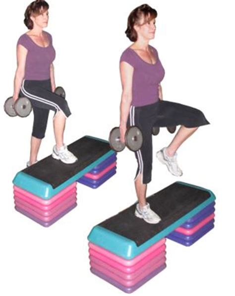 bench step ups with dumbbells illustrated full body exercises archives ab solutely fit