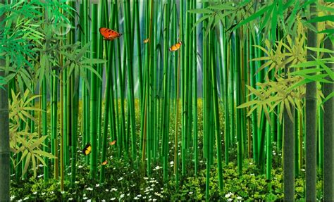 Bamboo Forest Wallpaper Room - free shipping custom 3d wall painting wallpaper bedroom