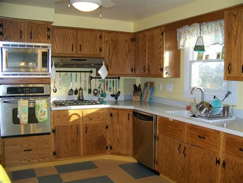 Cheap Kitchen Cabinet Makeover diana s early 60s oak kitchen with plank doors and