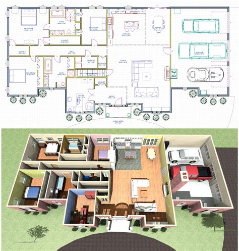 Basement In Law Suite Floor Plans the enchanting farmington ranch house plan