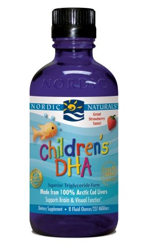 childrens dha cod liver strawberry 237ml nordic
