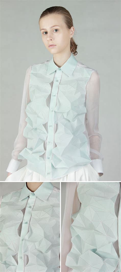 Origami Inspired Dress - 10 modern and creative fashion designs inspired by origami