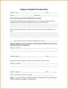 write up forms for employees