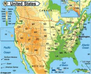 free united states physical map programs