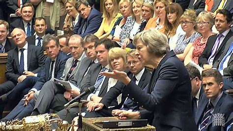 government front bench theresa may gives jeremy corbyn nightmares at pmqs
