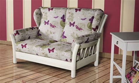divanetto legno divanetto a due posti rivestito in tessuto idfdesign
