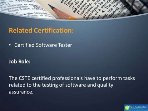 Certified Software Quality Engineer by Cste Certified Software Test Engineer Cste 2016