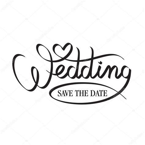 Wedding Lettering by Hochzeit Schriftzug Stockvektor 52764749