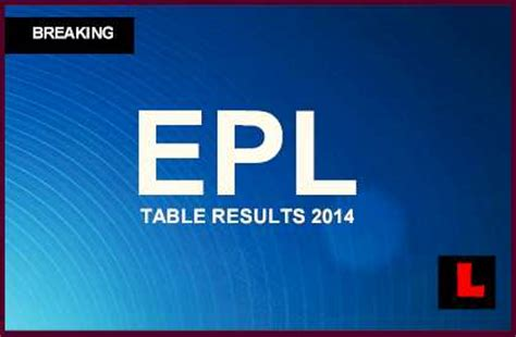 epl news results epl table results 2014 today chelsea details drive for