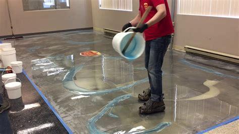 red concrete floor coating youtube how to do amazing metallic epoxy floor youtube