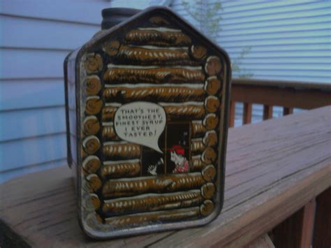 the from the tin cabin books another towles s log cabin syrup tin collectors weekly
