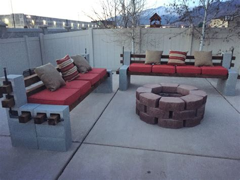 diy we built outdoor benches and a firepit for a cozy