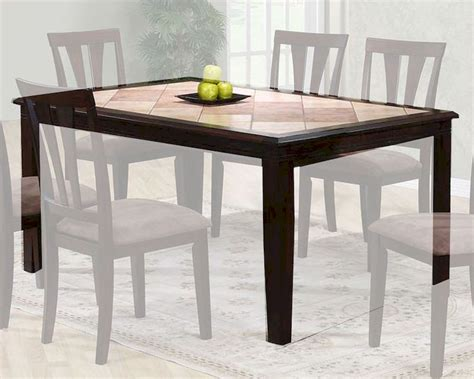 two tone dining table in cappuccino mo 6092tb