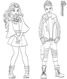 Descendants Wicked World Coloring Pages Getcoloringpages Com Descendants Coloring Book