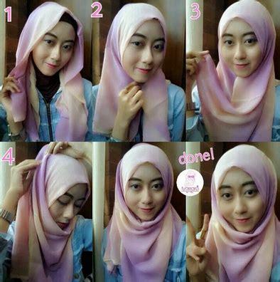 tutorial pashmina lilit leher gambar cara memakai hijab pashmina lilit gaya baru