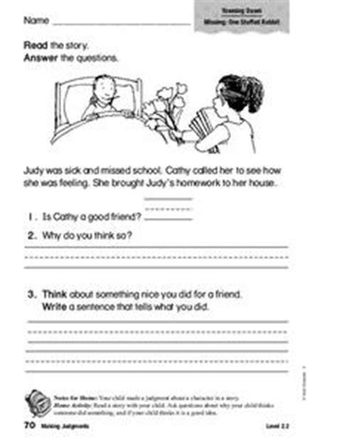 Making Judgments Worksheet For 1st 2nd Grade Lesson Planet Judgements Worksheets For Grade 1