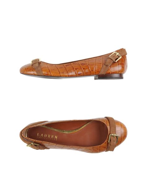 ralph flat shoes by ralph ballet flats in brown lyst