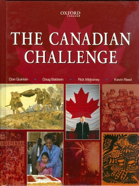 history book grade 8 oxford the canadian challenge don quinlan batner