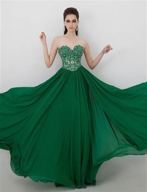 emerald green evening dresses for wedding 2015 elegant
