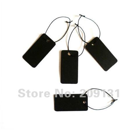 500PCS Black Blank Jewelry label tags Necklace Earring Bracelet tag lable Jewelry Card Black