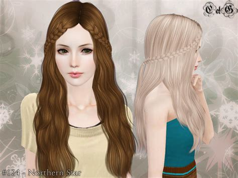 download hair female the sims 3 cazy s northern star hairstyle set