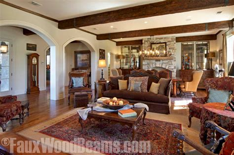 Wood Beams In Living Room by Exposed Wood Beams Made Easy Faux Wood Workshop