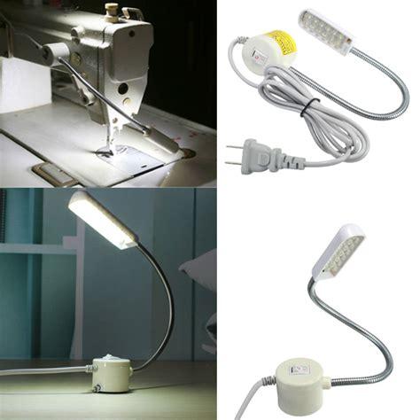 led gooseneck machine light 1w 220v sewing machine 12 led gooseneck light magnetic