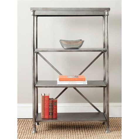 Safavieh Jacinda Dark Silver Open Bookcase Amh1534a The Silver Bookshelves